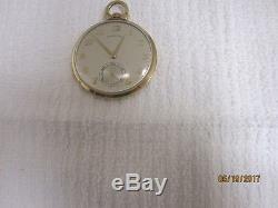 10K Solid Gold- 10sz Hamilton 23J Grade 945 Pocket Watch- 53.3 Grams