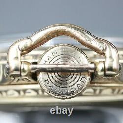 10k Gold 1919 Hamilton 21 Jewel RAILROAD Grade 992 Pocket Watch Large 16s