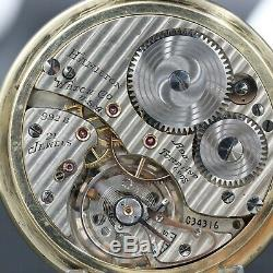 10k Gold HAMILTON 992B RAILWAY SPECIAL 21 Jewel Railroad Grade Pocket Watch 16s