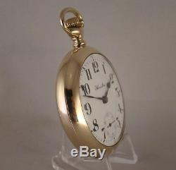 112 YEARS OLD HAMILTON 940 21j 10k GOLD FILLED OPEN FACE 18s RR POCKET WATCH