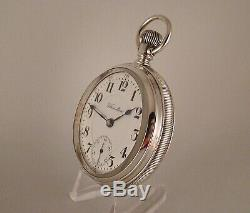 113 YEARS OLD HAMILTON 940 21j COIN SILVER OPEN FACE SIZE 18s RR POCKET WATCH