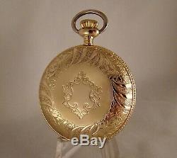 117 YEARS OLD HAMILTON 927 17j 10k GOLD FILLED HUNTER CASE 18s POCKET WATCH