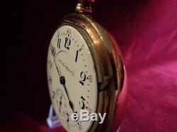 117-yr. Old Hamilton 940, 18s, 21J, RR grade, display case, timed, runs