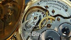 120 Years Old Absolutely Beautiful Antique Gold filled Hamilton pocket watch/16s