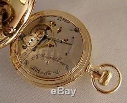 121 YEARS OLD HAMILTON 931 16j 14k GOLD FILLED HUNTER CASE 18s POCKET WATCH