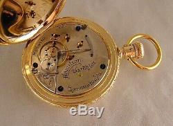 126 YEARS OLD HAMILTON 933 16j 14k GOLD FILLED HUNTER CASE 18s POCKET WATCH