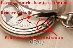 12k Gold 1923 Hamilton 21 Jewel 992 RAILROAD Grade Pocket Watch Mechanical 16s