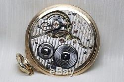 14k Gold 1924 Hamilton 21 Jewel 992 RAILROAD Grade Pocket Watch Montgomery Dial