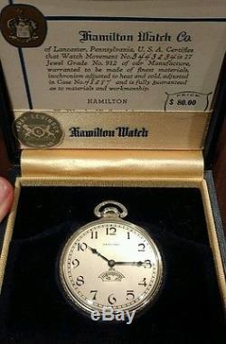 14k Hamilton 12s Secometer solid gold pennsylvania ohio railroad pocket watch