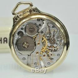 14k Hamilton 950b 23 Jewel 16 Size Pocket Watch Adj. 6 Pos With Original Box