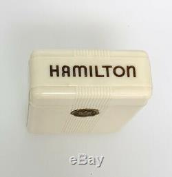 14k Hamilton 950b 23 Jewel 16 Size Pocket Watch Adj. 6 Pos With Original Box