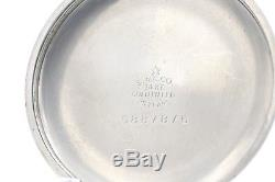 14k White Gold 1913 Hamilton 21 Jewel 992 RAILROAD Grade Pocket Watch USA 16s