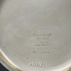14k White Gold 1915 Hamilton 21 Jewel RAILROAD Grade 992 Pocket Watch Large 16s
