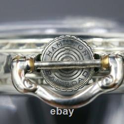 14k White Gold 1927 Hamilton 21 Jewel RAILROAD Grade 992 Pocket Watch Large 16s
