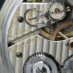 14k White Gold 1929 Hamilton 21 Jewel RAILROAD Grade 992 Pocket Watch Large 16s