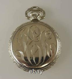 16 Size 23 Jewel 999N Ball Hamilton Pocket Watch c1915