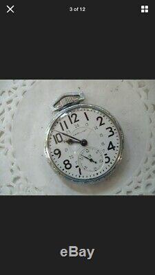16 Size Hamilton 992B Pocket Watch Runs