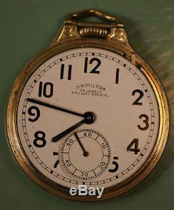 16 size Hamilton 23 jewels Railway Special grade 950B railroad pocket watch