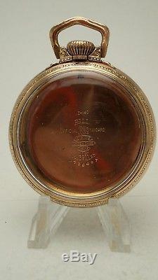 16S BALL WALTHAM HAMILTON POCKET WATCH Gold Filled Case 21j 23j