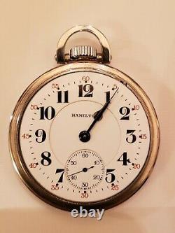 16S Hamilton 21 jewel adj 992B Railway Special Pocket Watch (1956) Hamilton case
