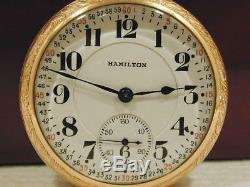 16s 21J Hamilton 992 Montgomery Dial Railroad RR Pocket Watch