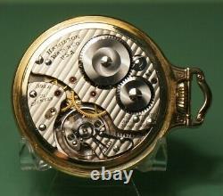 16s Hamilton 21J 992B railroad pocket watch in model 3 two-tone Wadsworth case