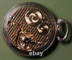 16s Hamilton 21j 992B P/W, 151 dial, scarce railroad model 14 nickel-chrome case