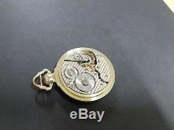 16s Hamilton 992 21 Jewel Model 1 Green Gold Filled Factory Cased Pocket Watch