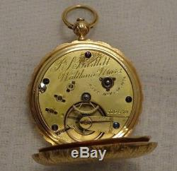 18K Hamilton Keyback gold Pocket Watch 10s P. S. Bartlett Works 13Jewel