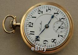 18S 1908 23 Jewel Hamilton 946 Fully Marked Movement Running Well & Keeping Time