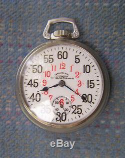 18S Hamilton 17J Grade 926 Ferguson Dial Display Case Pocket Watch Serviced