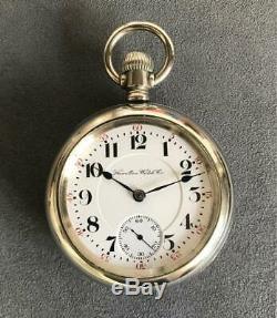 18s 17 Jewel Hamilton Pocket Watch 926 Railroad Two Tone Display Case Extra Fine