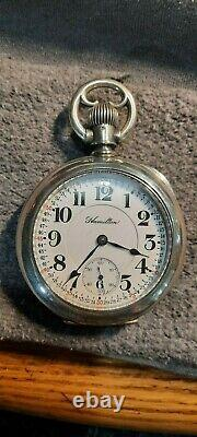 18s 940 Hamilton in a very rare silver reversable Muckle case look #S match rr
