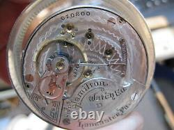 18s Hamilton 17J LS HC pocket watch movement ticking