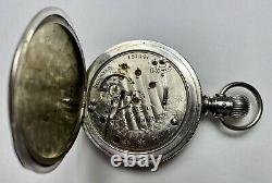 1901 Hamilton 18s 935 Grade Coin Silver 17j Lever Set Hunter Pocket Watch