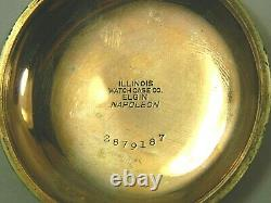 1906 Hamilton 924 grade 18S Gold Filled 17J Pocket Watch & Antique Chunky Chain
