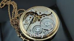 1906 antique Gold filled pocket watch Hamilton railroad 21 J, 5 position/16size