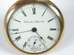1907 antique 924 HAMILTON 18 Size POCKET WATCH, 17 Jewels Salesman Display case