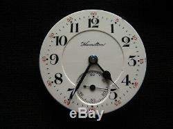 1909 16S Hamilton 950 Pocket Watch with 4-Footed Dial and Hands Just Cleaned