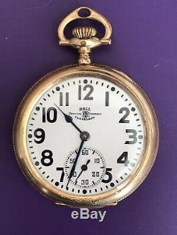 1910 Ball Hamilton 23 Jewel Railroad Pocket Watch 999 M Running #144