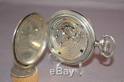 1910 Ball Hamilton 999 Pocket Watch Brotherhood of RR Trainmen, 2-Stars, Runs
