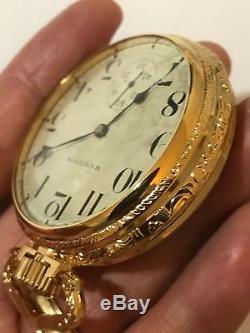 1910 Hamilton 992 Rare 4 Ft Railroad Pocket Watch Display Salesman Case Accurate