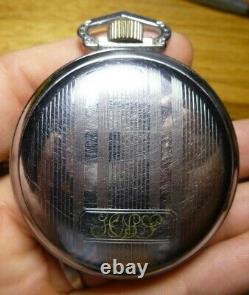 1912 Hamilton model 1 grade 940 21j 18s Railroad Grade Pocket Watch