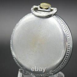 1913 HAMILTON 17 Jewel Pocket Watch RR Style Grade 974 Large 16s Silver Color