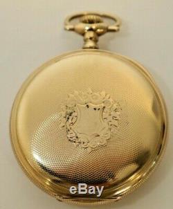 1915 Hamilton Pocket Watch Railroad Model 950 23 jewels 16s Double Bottom Back