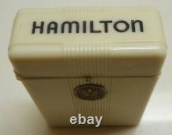 1916 HAMILTON RAILROAD 992, 16s, 21j. POCKET WATCH 14K G/F CASE BAKELITE CASE