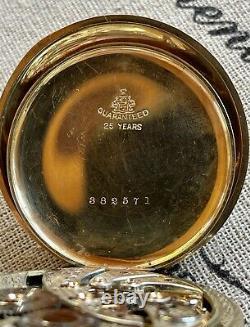 1916 Hamilton Gr. 900, Mdl. 1, 19j, 12s with5 Adj. In a Hamilton 25 yr G. F. CASE