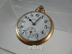 1917 Hamilton 16s, 21 jewel Railroad Grade 992 Pocket Watch RUNS 29-M