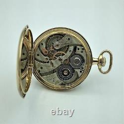 1918 Hamilton 14K Gold 23J Adj 5 Pos OF Pocket Watch Model 1 12s #1831472 Runs