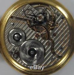 1919 Hamilton 992 21 Jewel Railroad Pocket Watch (t1114)